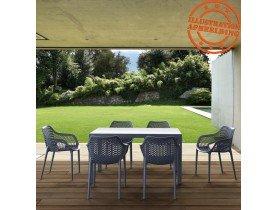 Chaise de jardin / terrasse 'SISTER' grise foncée en matière plastique