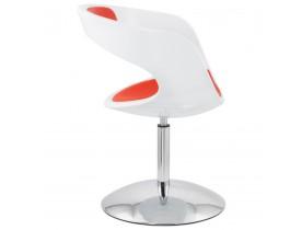 Siège design rotatif 'SPACE' rouge et blanc