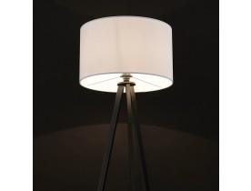 Lampadaire trépied 'SPRING' avec abat-jour blanc et 3 pieds noirs