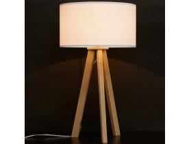 Lampe à poser trepied 'SPRING MINI' avec abat-jour blanc style scandinave