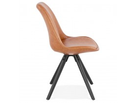 Chaise design 'STREET' brune style industriel