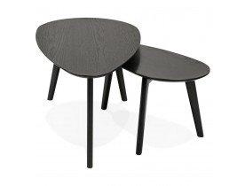 Tables gigognes design 'STOKOLM' en bois noir