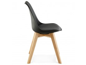 Chaise moderne 'TEKI' noire
