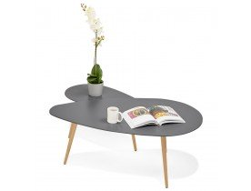 Tables gigognes design 'TETRYS' grises foncées