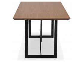 Table à diner / bureau design 'TITUS' en bois de noyer - 180x90 cm