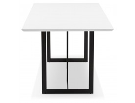 Table à diner / bureau design 'TITUS' en bois blanc - 180x90 cm