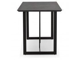 Table à diner / bureau design 'TITUS' en bois noir - 150x70 cm