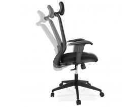 Fauteuil de bureau ergonomique 'VEKTOR' noir design