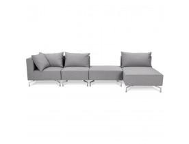 Grand canapé d'angle 'VOLTAIRE XL' gris - Canapé modulable (angle au choix)