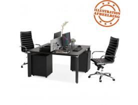 Table de réunion / bureau bench 'XLINE SQUARE' noir - 160x160 cm