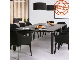 Table de réunion / bureau bench 'XLINE SQUARE' noir - 140x140 cm