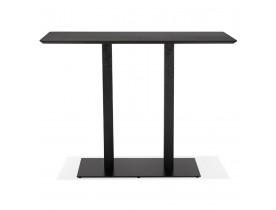 Table haute design 'ZUMBA BAR' noire avec pied en métal noir - 150x70 cm