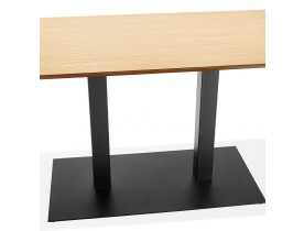 Table / bureau design 'ZUMBA' en bois finition naturelle - 150x70 cm