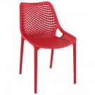 Chaise moderne 'BLOW' rouge en matière plastique