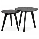 Tables gigognes ronde 'GABY' noires