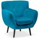 Fauteuil de salon 1 place 'OPERA MINI' en velours vert bleuté
