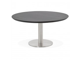 Table basse lounge AGUA noire - Ø 90 cm
