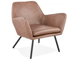 Fauteuil lounge design 'AMERIKA' en matière synthétique brune