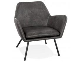 Fauteuil lounge design 'AMERIKA' en matière synthétique grise foncée