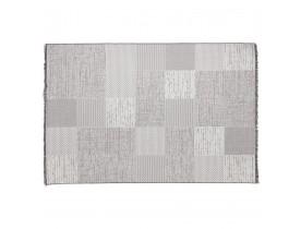 Tapis design 'ARKEO' 200x290 cm avec motifs carrés dégradés de gris - intérieur / extérieur