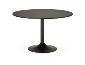 Table de bureau/à diner ronde 'ATLANTA' noire - Ø 120 cm