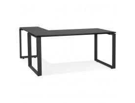 Bureau d'angle design 'BAKUS' en bois et métal noir - 160 cm