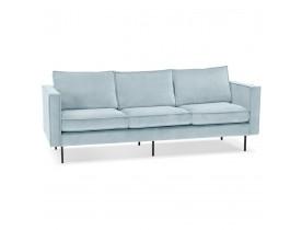 Canapé droit design 'BANDY' en velours bleu clair - canapé 3 places