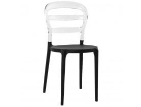 Chaise design 'BARO' noire et transparente en matière plastique