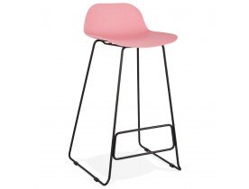 Tabouret de bar design 'BABYLOS' rose style industriel