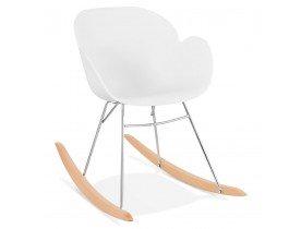 Chaise à bascule design 'BASKUL' blanche en matière plastique