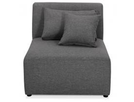 Élément de canapé modulable 'BELAGIO SEAT' gris foncé - module 1 place