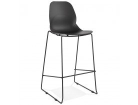 Tabouret de bar design 'BERLIN' noir style industriel