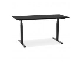 Bureau assis-debout électrique 'BIONIK'avec plateau en bois et métal noir - 150x70 cm