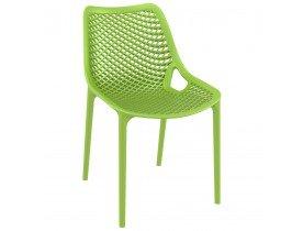 Chaise moderne 'BLOW' verte en matière plastique