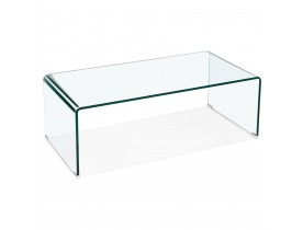 Table basse de salon 'BOBBY COFFEE' en verre transparent