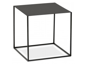 Table d'appoint design 'BONUS' en métal noir