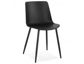 Chaise de cuisine moderne 'BRENDA' noire