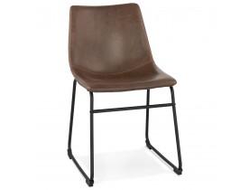 Chaise vintage 'BUFFALO' brune