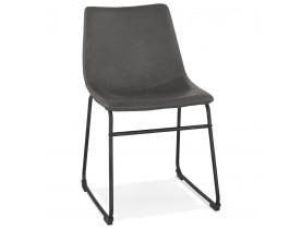 Chaise vintage 'BUFFALO' grise foncée