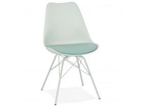 Chaise design 'BYBLOS' vert clair style industriel
