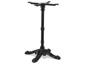 Pied de table style rustique 'CABARET' 75 en métal noir