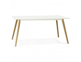 Table de cuisine rectangulaire / bureau droit 'CANDY' blanc - 160x90 cm