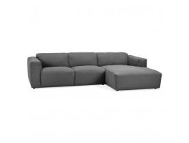 Petit canapé d'angle design 'CANYON L SHAPE MEDIUM' gris foncé (angle à droite)