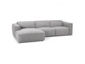 Petit canapé d'angle design 'CANYON L SHAPE MEDIUM' gris clair (angle à gauche)