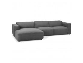 Canapé d'angle design 'CANYON L SHAPE' gris foncé (angle à gauche)