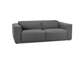 Canapé droit 'CANYON' gris foncé - canapé 3 places design