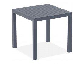 Table de terrasse 'CANTINA' design en matière plastique grise foncée - 80x80 cm