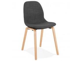 Chaise de salle à manger 'CELTIK' en tissu gris style scandinave