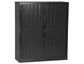 Armoire de bureau à rideaux 'CLASSIFY' grise foncée métallique - 136x120 cm