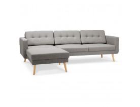 Canapé d'angle COLONEL gris clair avec méridienne à gauche - Alterego